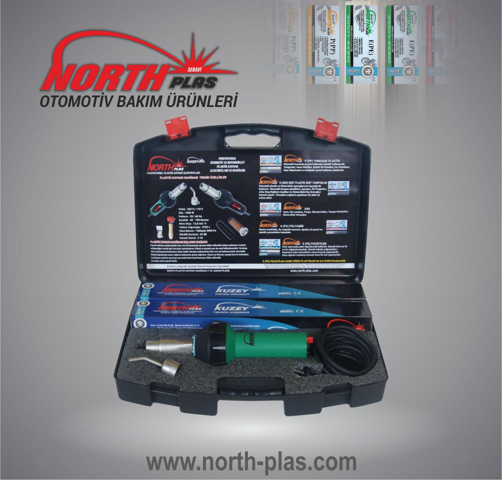 North Plas Plastik Kaynak Makinası seti