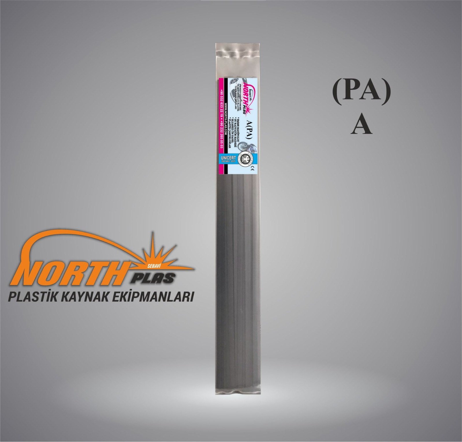 North Plas-KAYNAK ÇUBUK (A) PA (POLYAMİD) DAR SİYAH 7 MM (PAKET İÇİ 24 ADET ) Plastik Kaynak Elektrot
