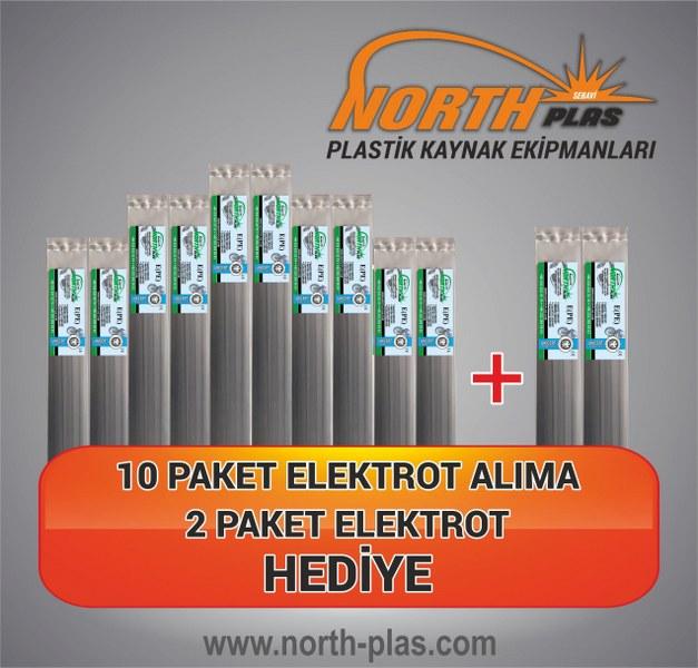 North Plas (E) PE (POLİETİLEN) DAR SİYAH 7 MM (PAKET İÇİ 24 ADET) Plastik Kaynak Elektrot