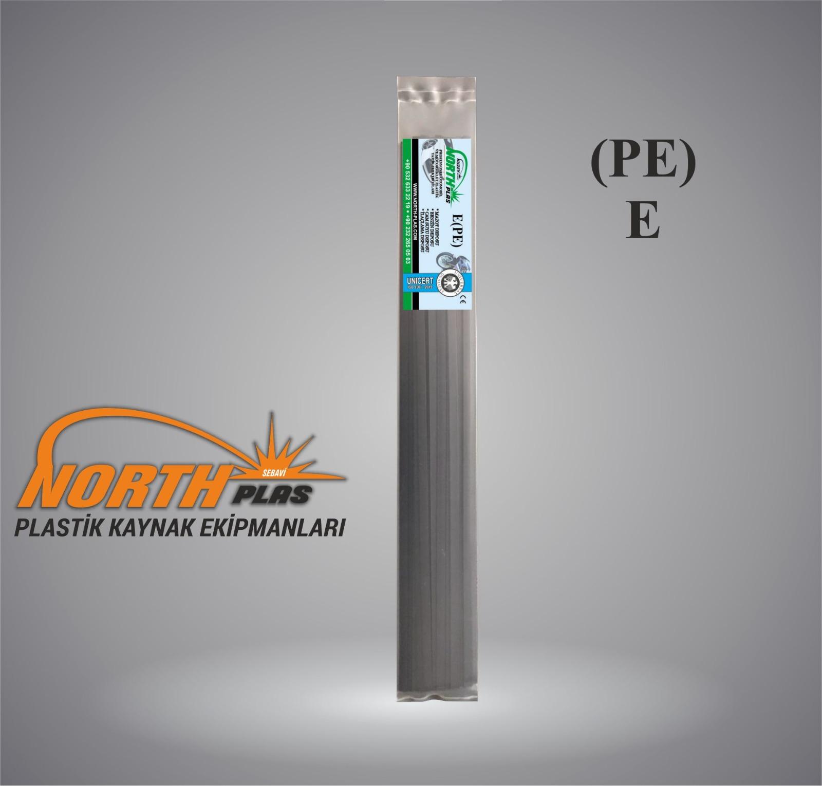 North Plas (E) PE (POLİETİLEN)GENİŞ SİYAH 11 MM PAKET İÇİ 15 ADET  Plastik Kaynak Elektrot