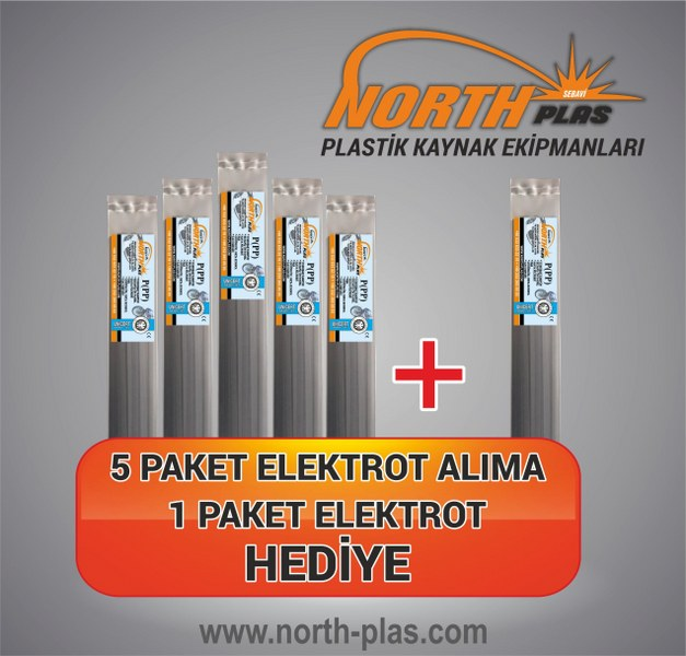 North Plas-(PP) POLİPROPİLEN (YUMUŞAK PLASTİK)DAR SİYAH 7 MM (PAKET İÇİ 24 ADET) Plastik Kaynak Elektrot
