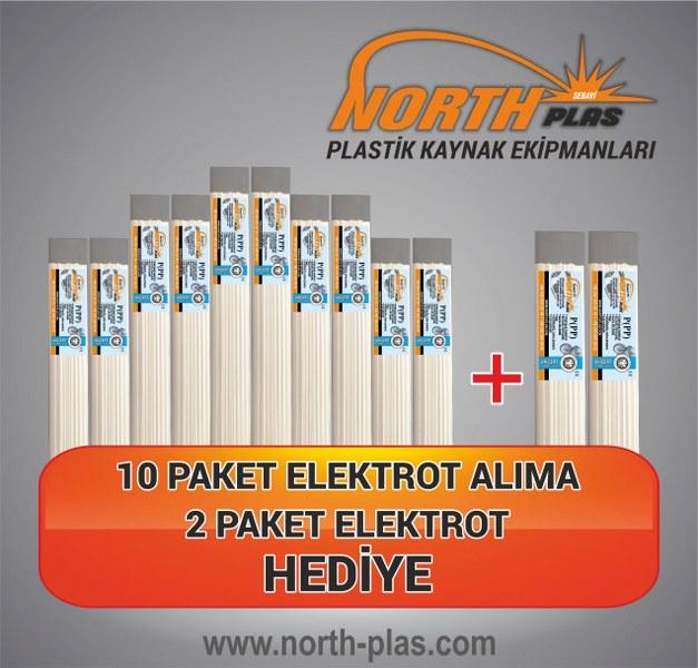 North Plas (PP) POLİPROPİLEN BEYAZ DAR 7 MM 24 ADET PAKET İÇİ (YUMUŞAK PLASTİK) Plastik Kaynak Elektrot 10+2=12 Paket