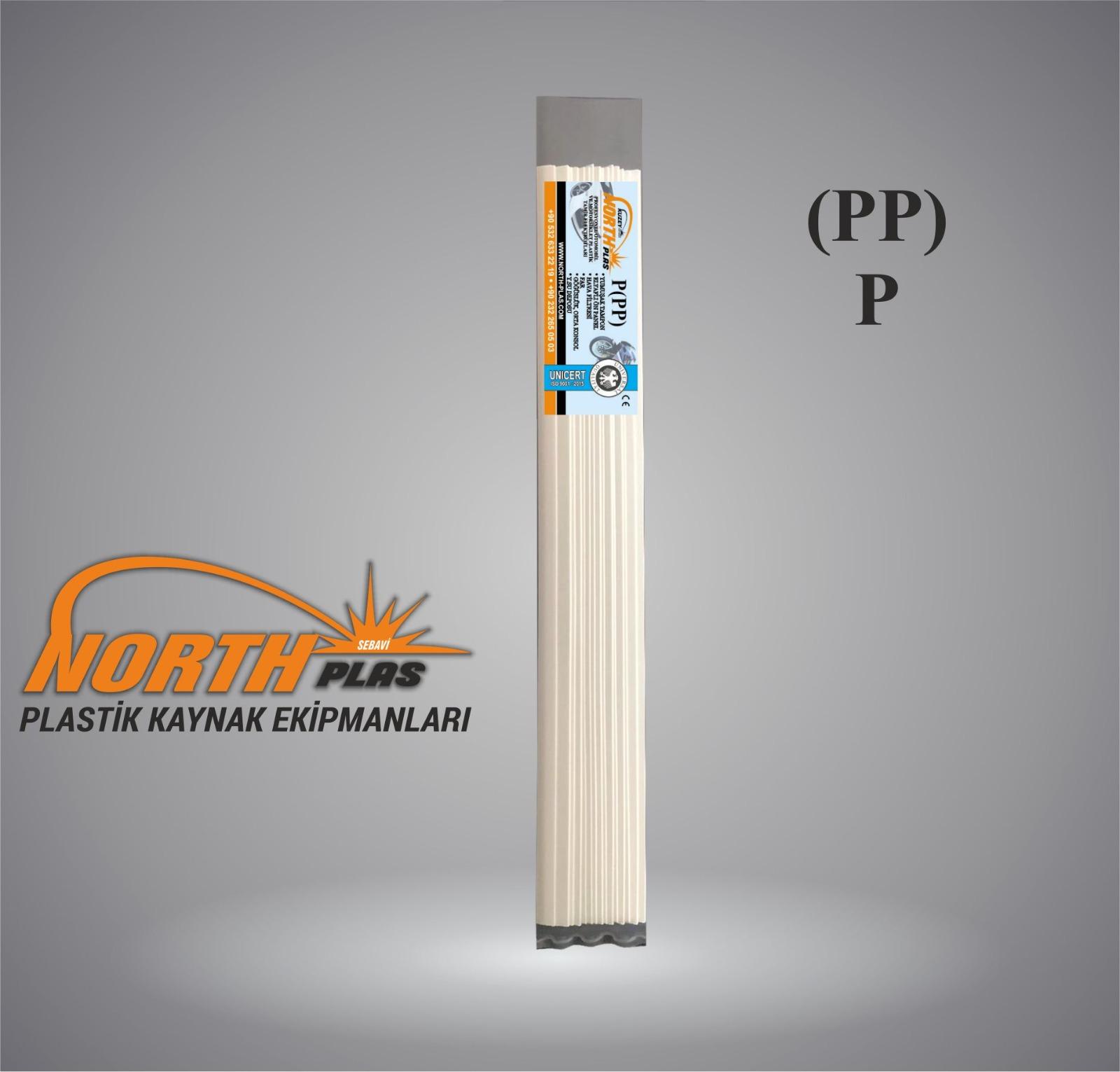 North Plas (PP) POLİPROPİLEN BEYAZ GENİŞ 12 MM  15 ADET PAKET İÇİ (YUMUŞAK PLASTİK) Plastik Kaynak Elektrot