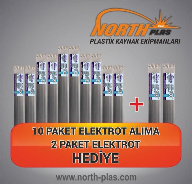 North Plas (S) ABS (SERT PLASTİK) DAR ABS SİYAH (PAKET İÇİ 24 ADET) Plastik Kaynak Elektrot