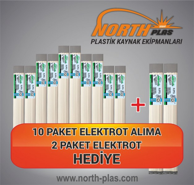 North Plas-KAYNAK ÇUBUK (E) PE (POLİETİLEN) DAR BEYAZ 7 MM (PAKET İÇİ 20 ADET) Plastik Kaynak Elektrot