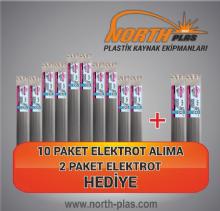 North Plas (A) PA (POLYAMİD) GENİŞ SİYAH 11 MM (PAKET İÇİ 15 ADET ) Plastik Kaynak Elektrot