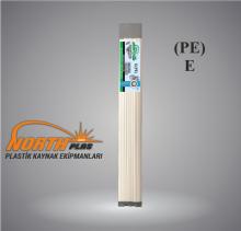 North Plas (E) PE (POLİETİLEN) GENİŞ BEYAZ  12 MM (PAKET İÇİ 15 ADET) Plastik Kaynak Elektrot