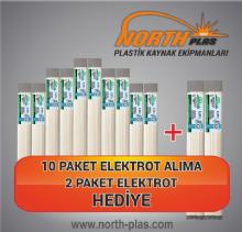 North Plas (E) PE (POLİETİLEN) GENİŞ BEYAZ 11 MM (PAKET İÇİ 15 ADET) Plastik Kaynak Elektrot