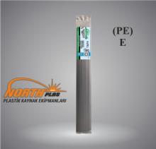 North Plas (E) PE (POLİETİLEN)GENİŞ SİYAH 12 MM PAKET İÇİ 15 ADET  Plastik Kaynak Elektrot