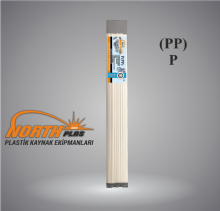 North Plas (PP) POLİPROPİLEN BEYAZ DAR 7 MM 24 ADET PAKET İÇİ (YUMUŞAK PLASTİK) Plastik Kaynak Elektrot