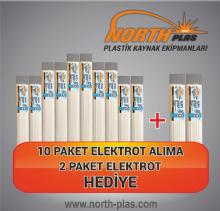 North Plas (PP) POLİPROPİLEN BEYAZ GENİŞ 11 MM 15 ADET PAKET İÇİ (YUMUŞAK PLASTİK) Plastik Kaynak Elektrot